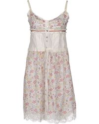 D&G Foral Printed Button-Front Paneled Sleeveless  Dress - Lyst