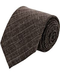 Barneys New York Pinstripe Slub Neck Tie - Lyst