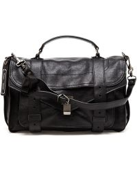 Proenza Schouler Ps1 Grained Leather Satchel - Lyst