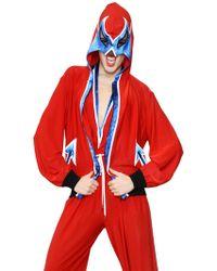 Jean Paul Gaultier - Hooded Mask Lycra Jersey Sweatshirt - Lyst