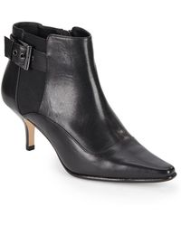 Donald J Pliner Longa Leather Ankle Boots black - Lyst