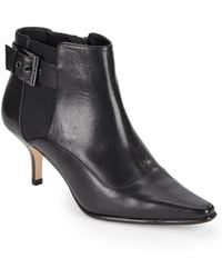Donald J Pliner Longa Leather Ankle Boots - Lyst