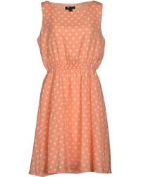 Cutie Pink Short Dress - Lyst