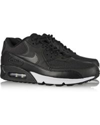 Nike Air Max 90 Leather And Printed Jacquard Sneakers - Lyst