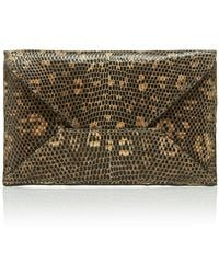 Metalskin - Brown Envelope Clutch - Lyst