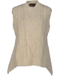 Just Cavalli White Sweater - Lyst