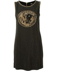 Versus  Lion Head Studded Shift Dress - Lyst