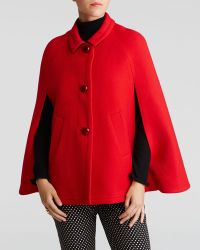 Kate Spade Red Wool Cape - Lyst