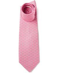 Ferragamo Dragon Fly Print Tie - Lyst