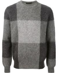 Alexander McQueen Tonal Check Sweater - Lyst
