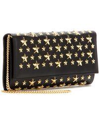 Jimmy Choo Milla Starstudded Leather Wallet - Lyst