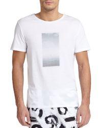 Onia Joey Printed T-Shirt - Lyst