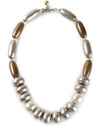 Yves Saint Laurent Vintage Beaded Necklace - Lyst