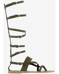Ancient Greek Sandals - Knee High Gladiator Flat Sandal - Lyst