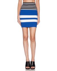 T By Alexander Wang Engineer Stripe Pencil Skirt - Lyst