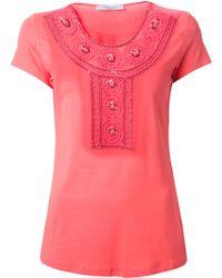 Blumarine Embroidered T-Shirt - Lyst