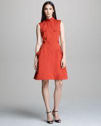 Derek Lam Sleeveless Safari Dress - Lyst