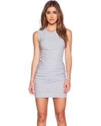 James Perse Blue Skinny Dress - Lyst