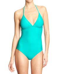 Old Navy Green Halterstyle Swimsuits - Lyst