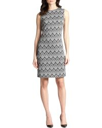 Peserico Printed Jacquard Dress - Lyst