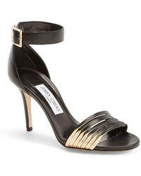 Jimmy Choo 'Livvi' Leather Ankle Strap Sandal - Lyst