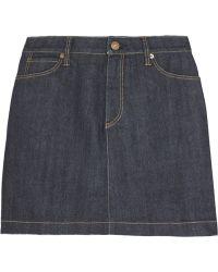 Burberry Brit Stretch-Denim Mini Skirt - Lyst