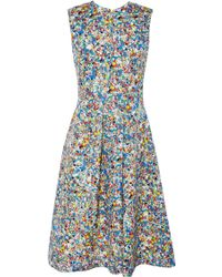 Power Florals Roksanda Blue Print Oakes Dress - Lyst