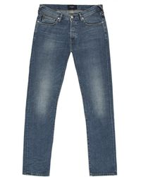 Paul Smith Straight-Fit Light-Wash Jeans - Lyst