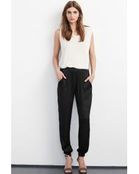 Velvet By Graham & Spencer | Ivanka Satin Pant | Lyst