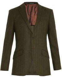 Richard James Herringbone Wool Blazer - Lyst