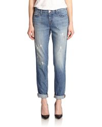 J Brand Jake Distressed Boyfriend Jeans blue - Lyst
