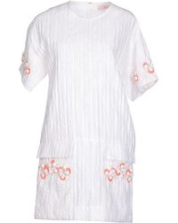 Matthew Williamson White Short Dress - Lyst