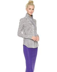 L'Wren Scott Long Sleeve Blouse - Lyst