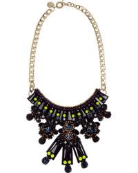 Matthew Williamson Gold-plated Crystal and Acrylic Necklace - Lyst