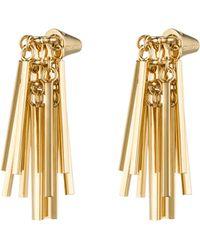 Eddie Borgo Gold-Plated Fringe Earrings - Lyst