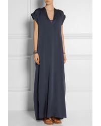 By Malene Birger Lusina Oversized Stretch-Silk Maxi Dress - Lyst