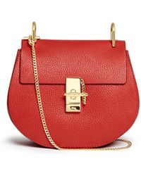 Chloé | 'drew' Small Grainy Leather Shoulder Bag | Lyst