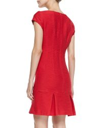 Nanette Lepore Dedicate Ribbed Knit Dropskirt Dress - Lyst