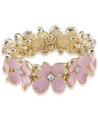 Carolee - Gemstone Garden Floral Stretch Bracelet - Lyst