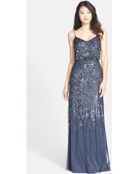 Adrianna Papell Beaded Blouson Gown - Lyst