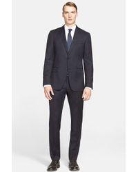 John Varvatos 'Jake' Trim Fit Solid Wool Suit blue - Lyst