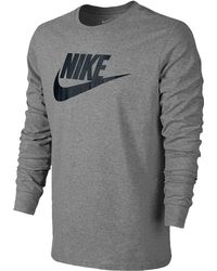 3030f8d8 Nike 'pro Hyperwarm' Fitted Long Sleeve Dri-fit T-shirt in Gray for ...