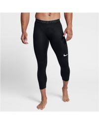da97686f8a453 Nike Pro 3/4 Training Tights in Black for Men - Lyst