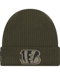 meet db21b f2bd9 KTZ New Orleans Saints Salute To Service Cuff Knit Hat in Green for Men -  Lyst