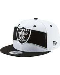 save off e1a3a 1f23f KTZ Oakland Raiders Training Camp Official Bucket Hat in White for Men -  Lyst