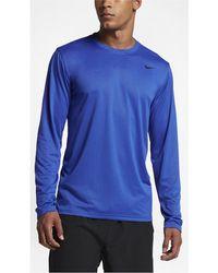 40f62531 Nike Legend 2.0 Long Sleeve Tee (white/black/black) Men's T Shirt in ...