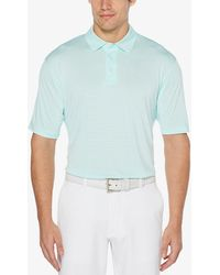 ccd1daecfe PGA TOUR Pga Airflux Solid Polo in Blue for Men - Lyst
