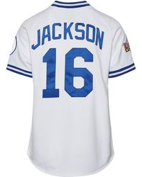 a6d896b35 Mitchell & Ness Angels Reggie Jackson Baseball Tee in Blue for Men - Lyst