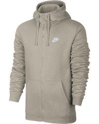 86305f6ed Nike Sportswear Club Men's Full Zip Hoodie in White for Men - Lyst