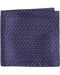 HUGO - Pinwheel Print Pocket Square - Lyst